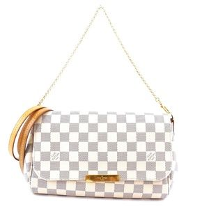 Favorite Clutch Damier Azur Canvas Cross Body Bag